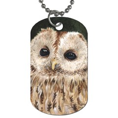Tawny Owl Dog Tag (two Sided)
