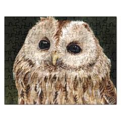 Tawny Owl Jigsaw Puzzle (Rectangle)