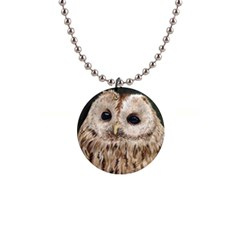 Tawny Owl Button Necklace