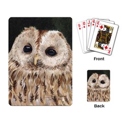 Tawny Owl Playing Cards Single Design
