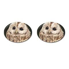 Tawny Owl Cufflinks (Oval)