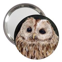 Tawny Owl 3  Handbag Mirror