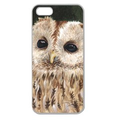 Tawny Owl Apple Seamless Iphone 5 Case (clear)