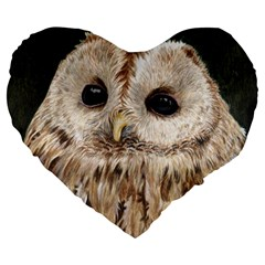 Tawny Owl 19  Premium Heart Shape Cushion
