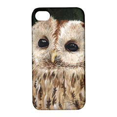 Tawny Owl Apple iPhone 4/4S Hardshell Case with Stand