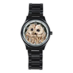 Tawny Owl Sport Metal Watch (black)