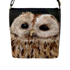 Tawny Owl Flap Closure Messenger Bag (Large)