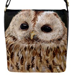 Tawny Owl Flap Closure Messenger Bag (Small)