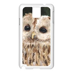 Tawny Owl Samsung Galaxy Note 3 N9005 Case (white)