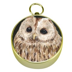 Tawny Owl Gold Compass