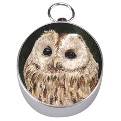 Tawny Owl Silver Compass