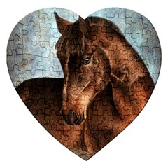 Midnight Jewel  Jigsaw Puzzle (Heart)