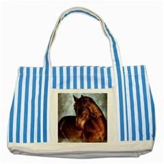 Midnight Jewel  Blue Striped Tote Bag