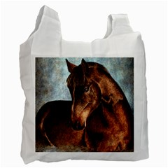 Midnight Jewel  White Reusable Bag (One Side)