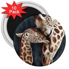 A Mother s Love 3  Button Magnet (10 pack)