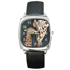 A Mother s Love Square Leather Watch