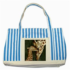 A Mother s Love Blue Striped Tote Bag