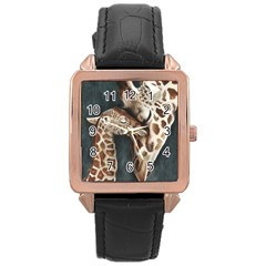 A Mother s Love Rose Gold Leather Watch