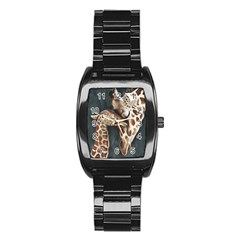 A Mother s Love Stainless Steel Barrel Watch