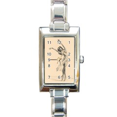 Graceful Dancer Rectangular Italian Charm Watch