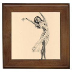 Graceful Dancer Framed Ceramic Tile