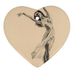 Graceful Dancer Heart Ornament