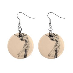 Graceful Dancer Mini Button Earrings