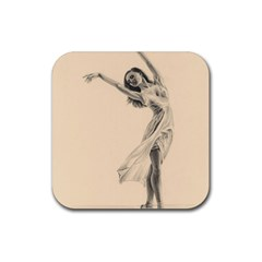 Graceful Dancer Drink Coaster (Square)