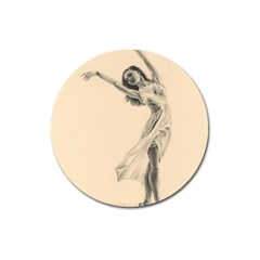 Graceful Dancer Magnet 3  (Round)