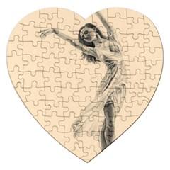 Graceful Dancer Jigsaw Puzzle (heart)