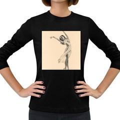Graceful Dancer Women s Long Sleeve T-shirt (Dark Colored)
