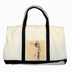 Graceful Dancer Two Toned Tote Bag