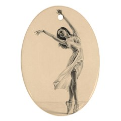 Graceful Dancer Oval Ornament (Two Sides)