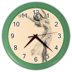 Graceful Dancer Wall Clock (color)