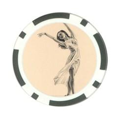 Graceful Dancer Poker Chip
