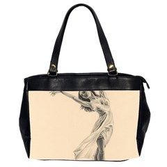 Graceful Dancer Oversize Office Handbag (two Sides)
