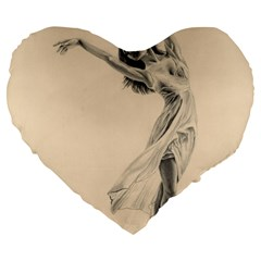 Graceful Dancer 19  Premium Heart Shape Cushion