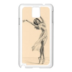 Graceful Dancer Samsung Galaxy Note 3 N9005 Case (white)