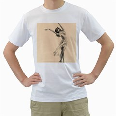 Graceful Dancer Men s T-Shirt (White)