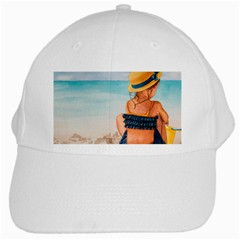 A Day At The Beach White Baseball Cap