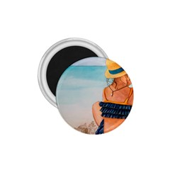 A Day At The Beach 1.75  Button Magnet