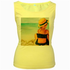 A Day At The Beach Women s Tank Top (yellow)