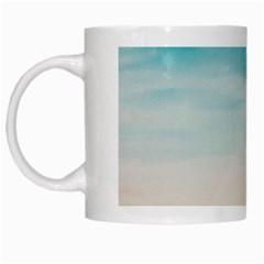 A Day At The Beach White Coffee Mug