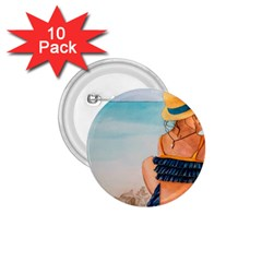 A Day At The Beach 1.75  Button (10 pack)
