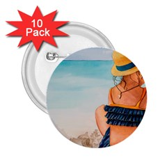 A Day At The Beach 2.25  Button (10 pack)
