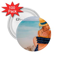 A Day At The Beach 2.25  Button (100 pack)