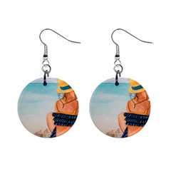 A Day At The Beach Mini Button Earrings