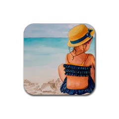 A Day At The Beach Drink Coaster (Square)