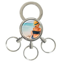 A Day At The Beach 3-Ring Key Chain