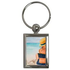 A Day At The Beach Key Chain (rectangle)